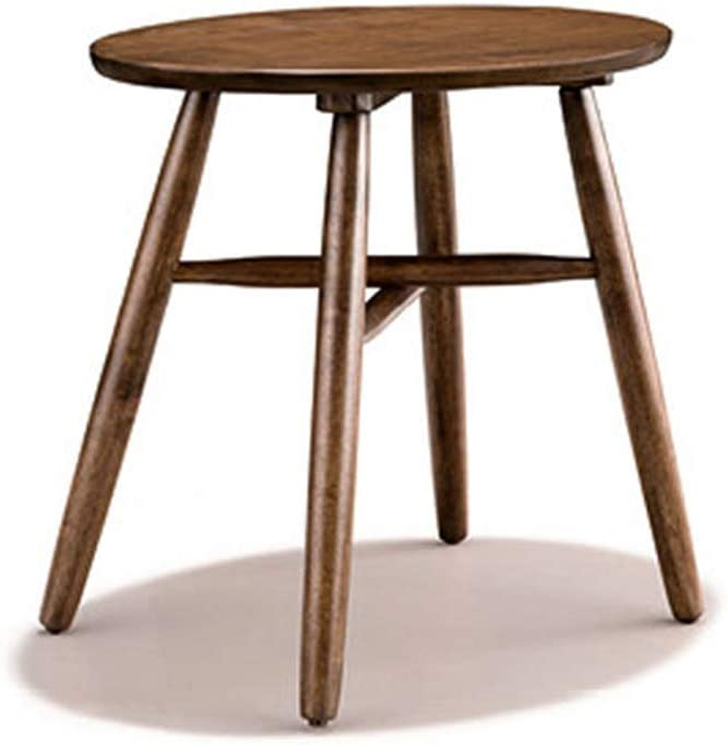 Home&Selected Furniture/Oak Side Table Round Telephone Table Corner Table Coffee Table for Bedroom Living Room Restaurant 50 55CM