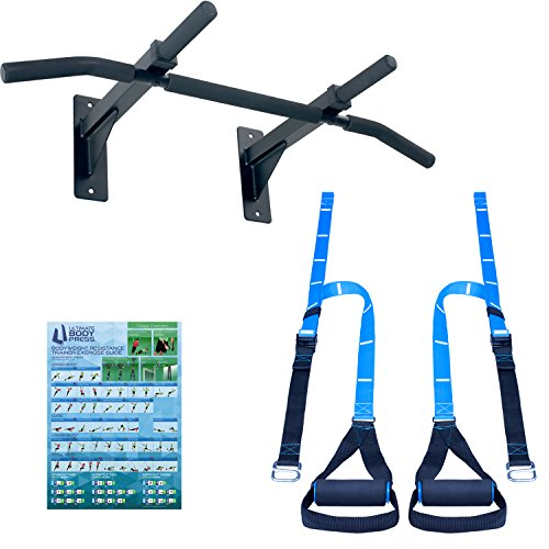 Ultimate Body Press Wall Mount Pull Up Bar & Bodyweight Resistance Trainer by Ultimate Body Press