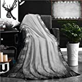 "Nalagoo Unique Custom Flannel Blankets Grunge Color Filmstrip Texture Scratched Photo Film Frame Background Super Soft Blanketry for Bed Couch, Throw Blanket 60"" x 40"""