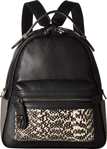 COACH Women's Color Block Exotic Campus Backpack 23 V5/Black Multi One -
