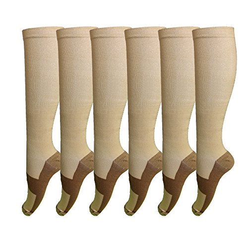 Pairs Copper Compression Support Socks