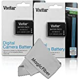 (2 Pack) Vivitar EN-EL12 Ultra High Capacity 1200mAH Li-ion Batteries for NIKON Coolpix AW100 AW100s AW110 AW110s AW120 S9700 S9500 S9300 S9200 S9100 S8200 S8100 S6300 P330 P310 P300 S1200pj S1000pj S620 S31 (Nikon EN-EL12 Replacement)