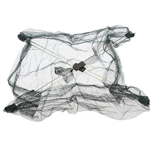 60*60cm Foldable Fishing Net Mesh Baits Portable Trap Cast Dip Net Crab Shrimp Fish Up Fishing Tackle Tool Equipment (Crab Tackle)