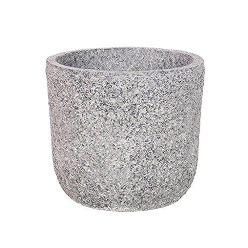 Fiberglass Floor Pot - Flowers and friends CSQ Gray Imitation Stone Fiberglass Pots, Floor Living Room Bedroom Study Balcony Outdoor Hard Thick Hand Polished (Size : 3128cm)