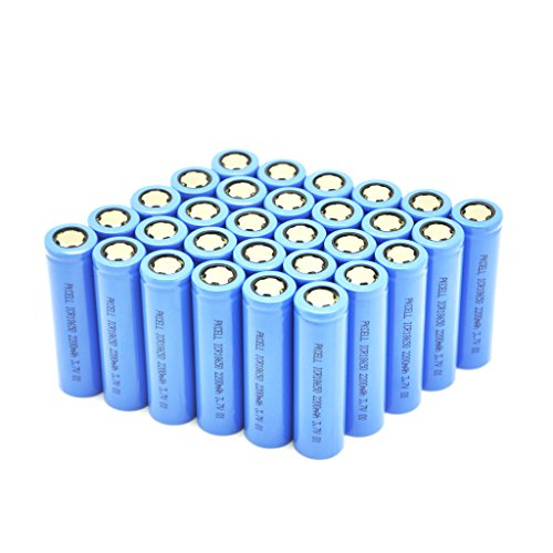3.7V Batteries Rechargeable lithium ion battery icr18650 (2200mAh*30Pcs) by PK Cell