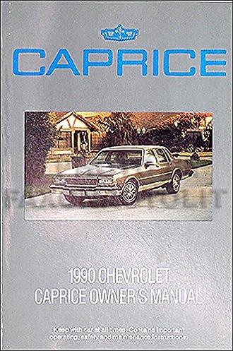 1990 chevrolet caprice original owner s manual chevrolet amazon rh amazon com chevrolet caprice 2009 manual chevrolet caprice 2009 manual