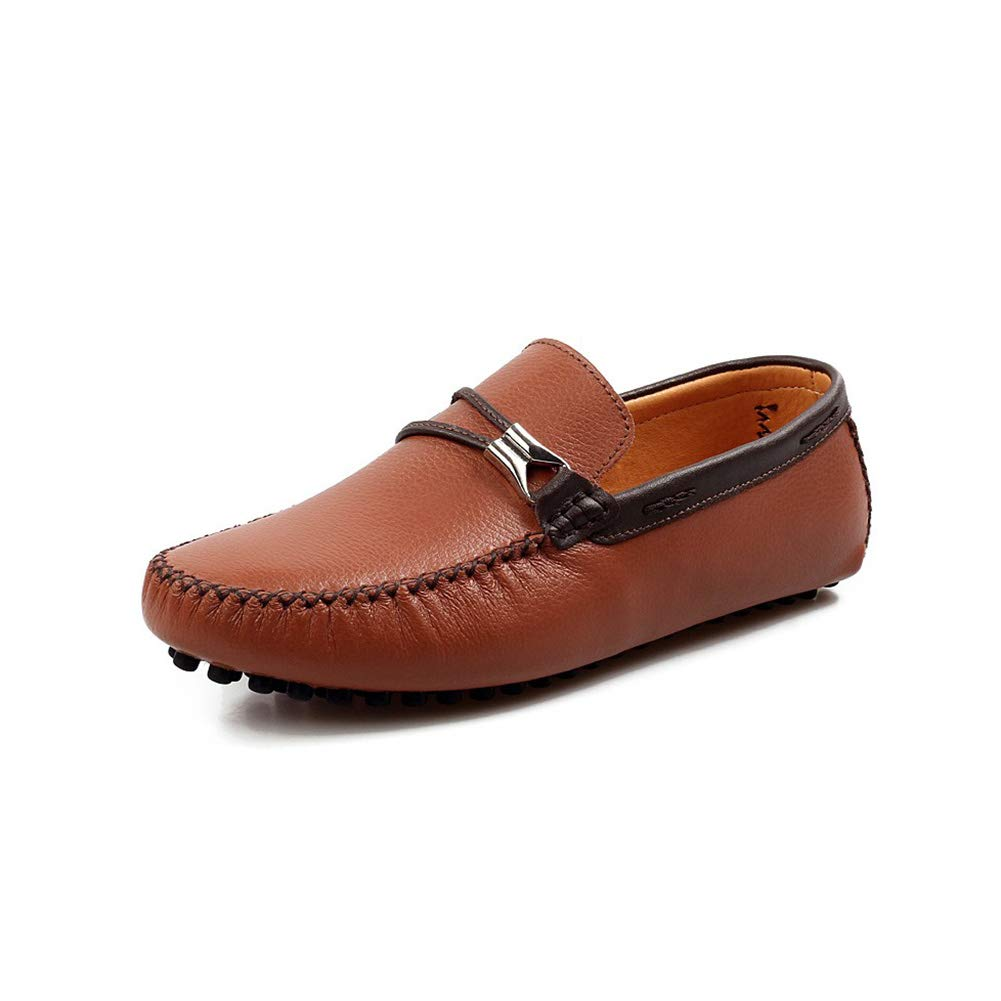 Brown Men's Non-slip Business Driving shoes Breathable Leisure Sleeve Loafers Low help British style Boat shoes