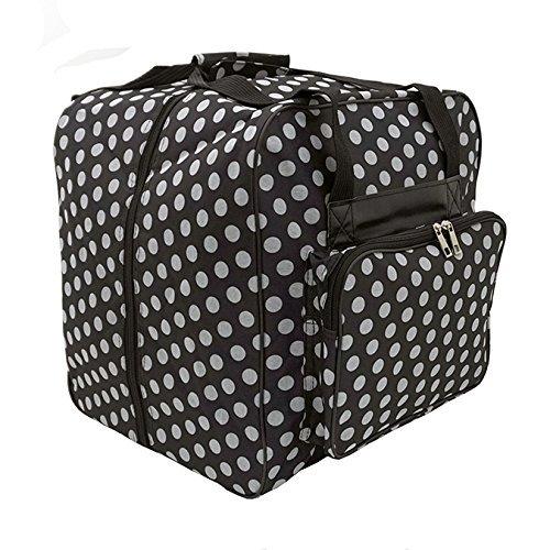 Hemline Dotty Black Polka Dot Serger or Overlock Tote Bag 4336998286