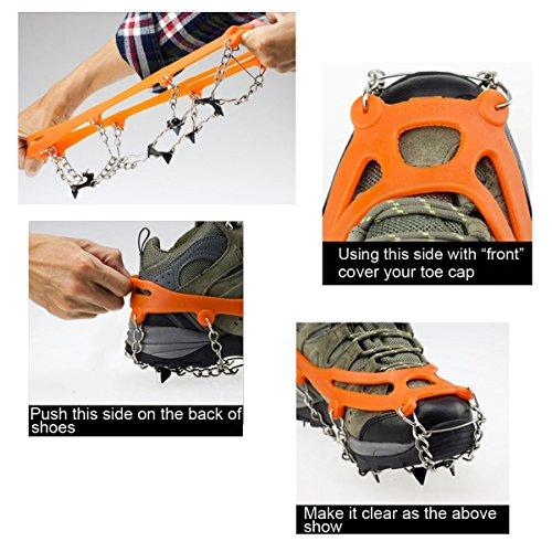 ABBY Chaussures d'escalade en plein air Neige couvre-chaussures de glissement orange
