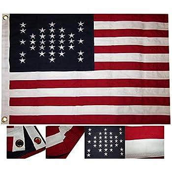 "38x38 Embroidered USCT Eagle E Pluribus Unum Cotton Flag 38/""x38/"""