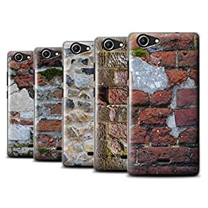 STUFF4 Phone Case / Cover for Wiko Pulp Fab 4G / Pack 11pcs / Brickwork Collection
