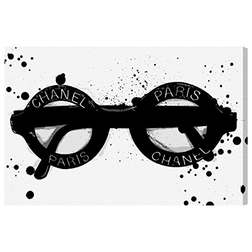 The Oliver Gal Artist Co. Fashion and Glam Wall Art Canvas Prints 'Fashionable Eyes' Home Décor, 36