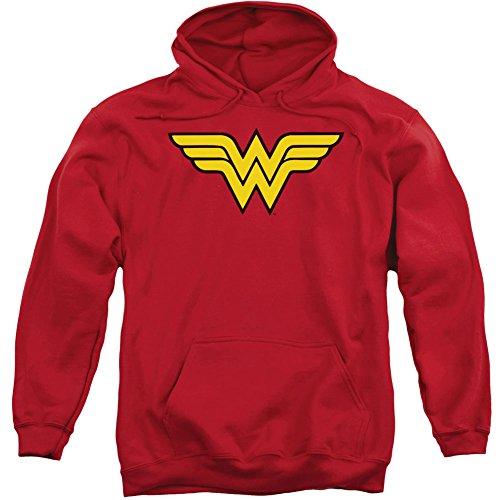 DC Comics Wonder Woman Logo Adult Pull-Over Hoodie