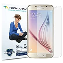Galaxy S6 Screen Protector, Tech Armor Anti-Glare/Anti-Fingerprint Sasmsung Galaxy S6 Film Screen Protector [3-Pack]