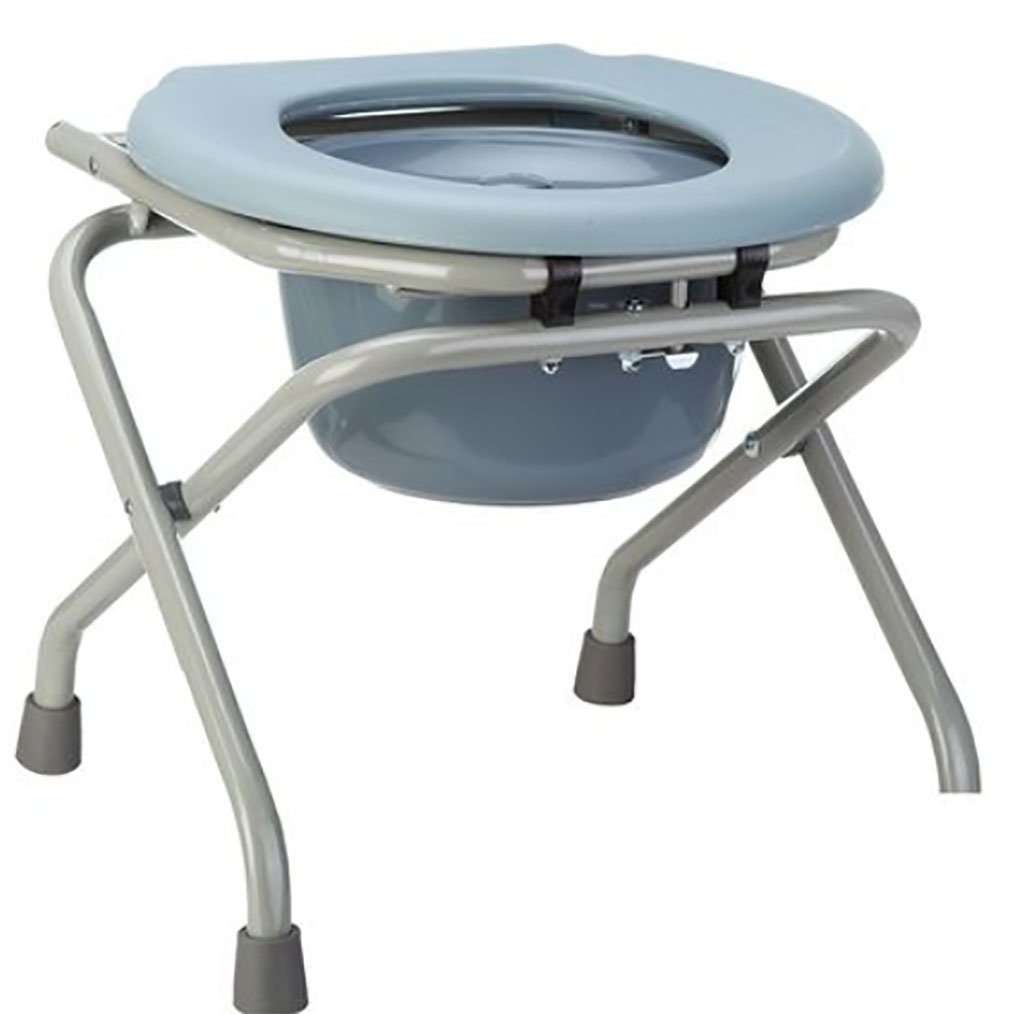 Toilet Seat with Safety Frame Two-in-One Drive Medical Folding Bedside Commode Elderly Pregnant Women Seat with Commode Bucket by ZaoKang