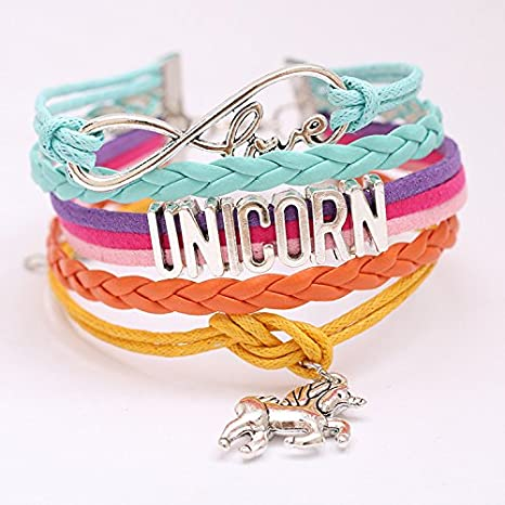 Zivyes Unicornio Regalos para Ni/ñas Unicornio Maquillaje Bolsa//Cord/ón Mochila//Pulsera//Collar//Clip de Pelo Unicornio Navidad Party Favors
