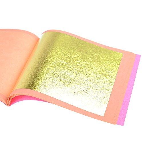Barnabas Blattgold: Professional Quality Genuine Gold Leaf Sheets, 23.75k, 25 Sheets, 85 x 85 mm Booklet (Loose Leaf) G85-23.75K-25