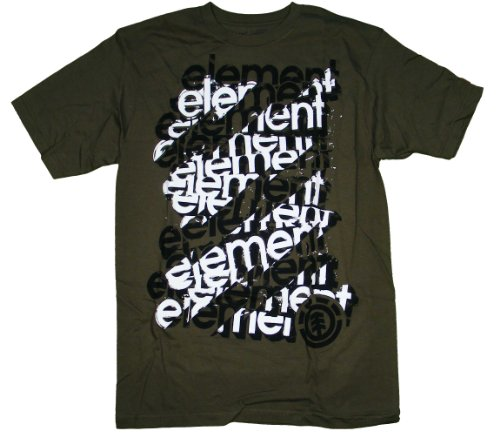 T-shirt Mens Element Short (Element Scaffold T-Shirt - Army - S)