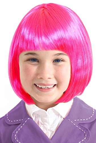 Costume Adventure Stephanie Costume Wig Pink Wig for Girls Pink Wig for Kids