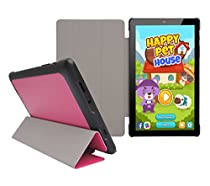 "Insignia Flex 8"" NS-P08A7100 Tablet Slim Shell Case - iShoppingdeals Ultra Slim Lightweight Tri Fold Standing Cover for Insignia Flex 8"" NS-P08A7100 Tablet 2016 Release - Light Coral"