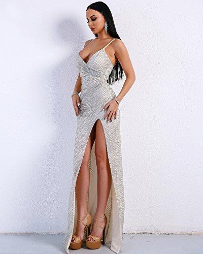 Damen Silber Cocktail Missord Kleid Missord Silber Kleid Damen Cocktail Cocktail Silber Damen Kleid Missord I6x0wd0