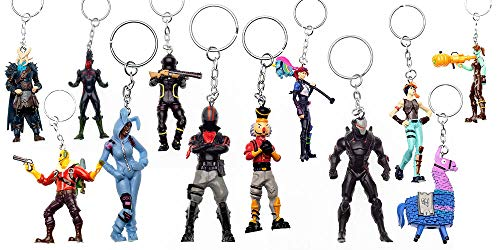 (PMI Fortnite figural Keychains Set of 12 - Authentic Fortnite Figures with Keychain - Ghoul Trooper, Brite Bomber & Other Popular Fornite Battle Royale Toy Characters - B Series Collection 2 of 3)