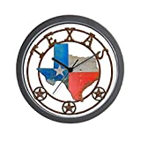 CafePress – Texas Wrought Iron Barn Art – Unique Decorative 10″ Wall Clock For Sale