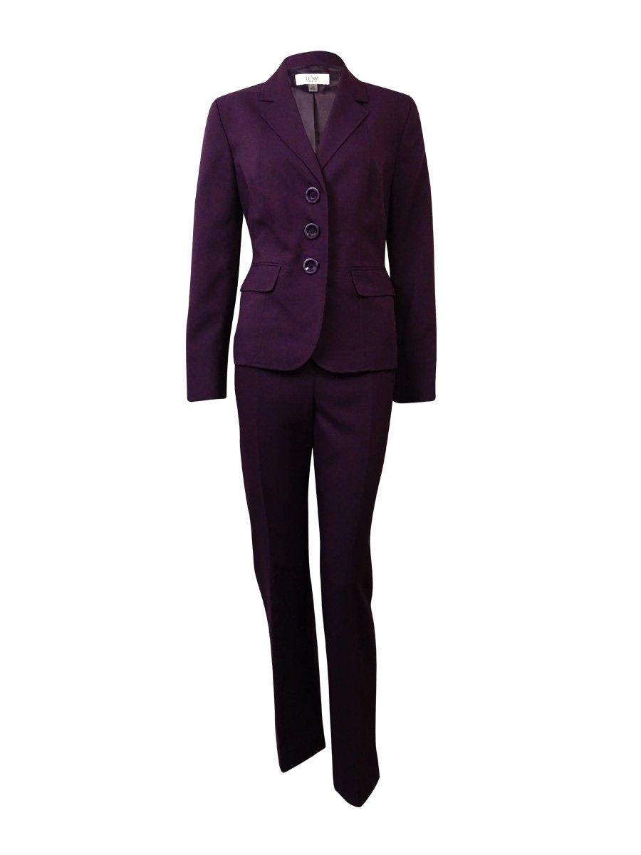 Le Suit Women's Twill Notch Pocket Solid Pant (8P, Concord)