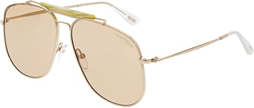 08b5f9bdf Tom Ford Aviator Sunglasses for Men - Gold Lens, FT0557-28Y: Amazon.ae