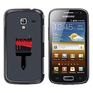 GOODTHINGS Funda Imagen Diseño Carcasa Tapa Trasera Negro Cover Skin Case para Samsung Galaxy Ace 2 I8160 Ace II X S7560M - pintar rojo minimalista calle polígono