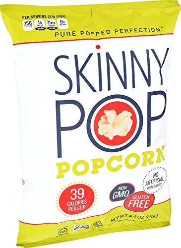 SKINNYPOP Original Popped Popcorn, Individual Bags, Gluten Free Popcorn, Non-GMO, No Artificial Ingredients, A Delicious Source of Fiber, 4.4 Ounce (Pack of 12) by SkinnyPop (Image #6)