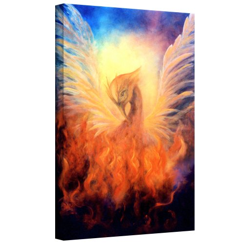 ArtWall Marina Petro Phoenix by Rising Gallery Wrapped Canvas Art, 36 by 24-Inch