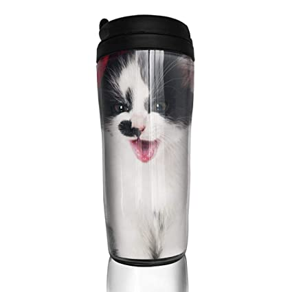 8a5617404334 Amazon.com: Coffee Cups Winter White Cat Travel Tumbler Insulated ...