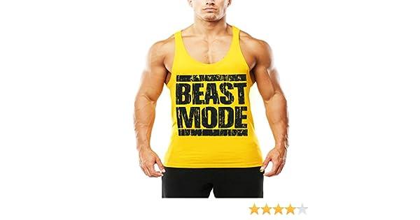 1d48009bec7043 CRAZYBODIES Beast Gym Tank Tops For Bodybuilder   Bodybuilding Tanks  Workout Stringer Shirt (Large