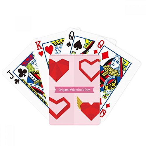 DIYthinker Red Abstract Christmas Heart Origami Poker Playing Card Tabletop Board Game Gift (Origami Heart Card)