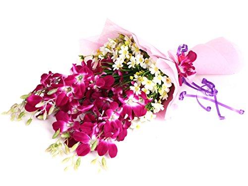 VCK Divine Purple Orchid Bouquet Multi -