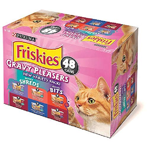 Purina Friskies Gravy Pleasers, Variety Pack (5.5 oz., 48 ct.) Review