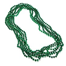 33 7 mm Green Mardi Gras Beads by HAYES SPECIALTIES