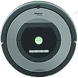 iRobot Roomba 772 Aspirateur Robot, système de nettoyage puissant avec Dirt Detect, aspire tapis, moquettes et sols durs, idéal pour les poils d'animaux, nettoyage sur programmation, argent