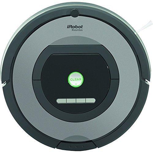 iRobot Roomba 772 Robot Aspirador, Alto Rendimiento de Limpieza, Programable, Atrapa el Pelo de Mascotas, 33 W, 61 Decibelios, Plata