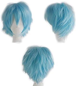 Blond Blanchi Perruque Femme Cosplay Cheveux Courte Femme Homme Fibre Synthetique Costume Unisex Halloween Carnaval