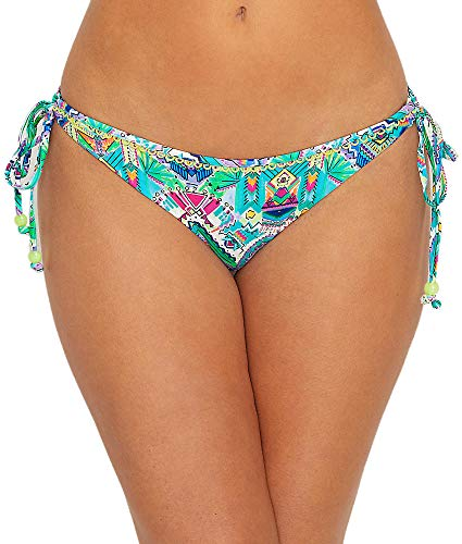 (Freya New Native Rio Side Tie Bikini Bottom, L, Native Print)