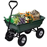 Tek Widget Heavy Duty Wheelbarrow Garden Dump Truck Wagon