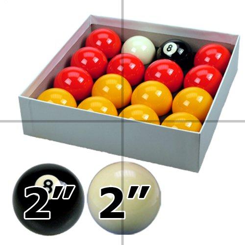 ClubKing - Juego de bolas de billar blackball, 16 bolas, con bola blanca y negra, 57 mm ClubKing Ltd