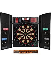 UItrasport Electronic Dartboard with & without Doors, Classic Darts for 16 Players, Darts Game with LED Display, Up to 38 Games and Plenty of Variations/DartBoard Including 12 Soft Darts