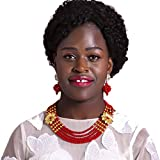 laanc 5 Rows Multicolors African Beads Womens Jewelry Set Nigerian Wedding Beads Jewellery Sets A-022A