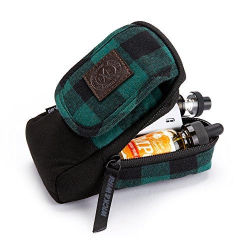 Stash Case (Green Plaid) Vape Case, Premium Vape Bag, Portable Vape