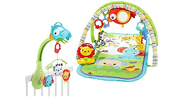 Amazon.com: Fisher-Price 90EHI29 Rainforest Gimnasio y funda ...
