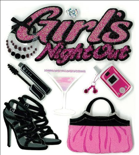 Jolee's Boutique Dimensional Stickers, Girls' Night (Jolees Boutique Girl)