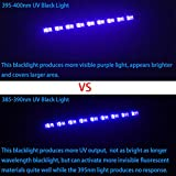 WOWTOU 385nm UV LED Black Light Bar Professional Blacklight for Neon Glow Parties